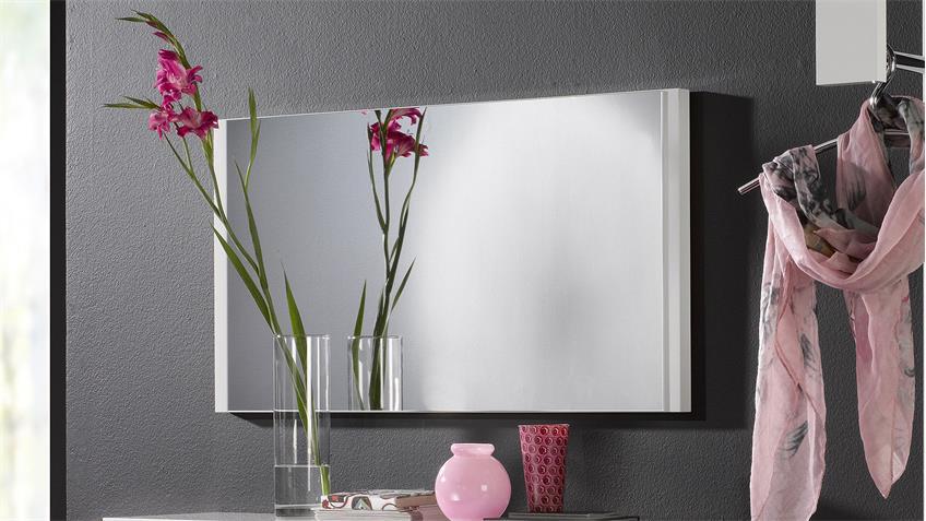 Spiegel TRACER Spiegelpaneel weiß Hochglanz lackiert