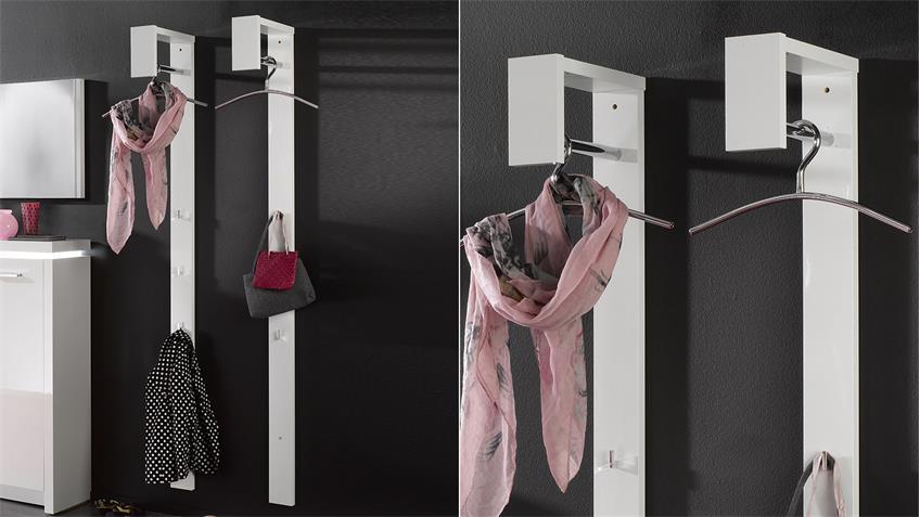 Garderobenpaneel TRACER Paneel weiß Hochglanz lackiert