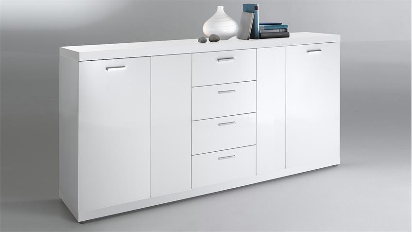 Sideboard 2 TONIC Kommode in weiß Hochglanz lackiert