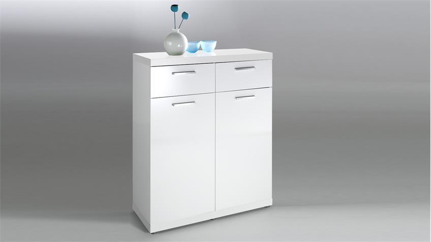 kommode tonic sideboard anrichte schrank in wei hochglanz lack 86. Black Bedroom Furniture Sets. Home Design Ideas