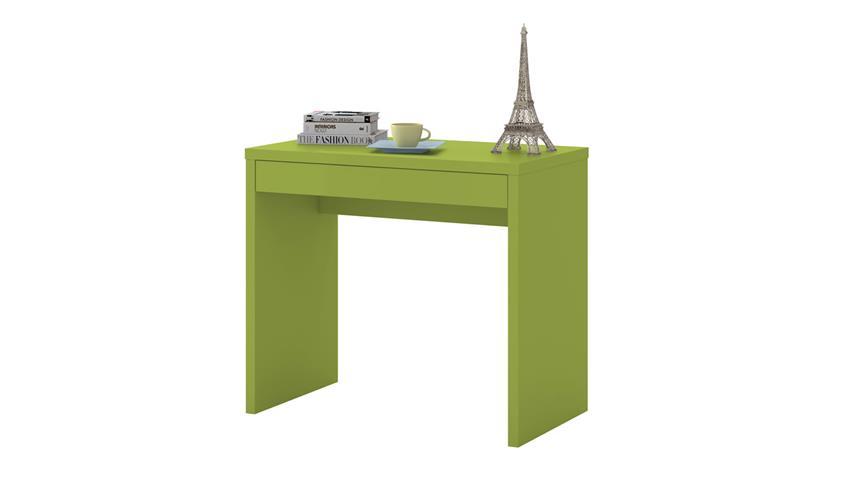 Schreibtisch DESKTOP matt lack pistazie Schubkasten 87 cm