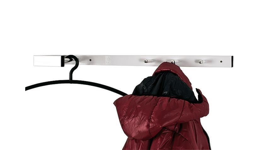 Wandgarderobe 89345 Garderobenhaken in weiß und Chrom