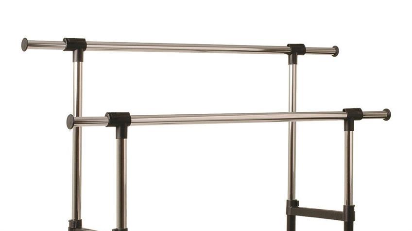 Rollgarderobe höhenverstellbar und mit ausziehbarer Seitenstange