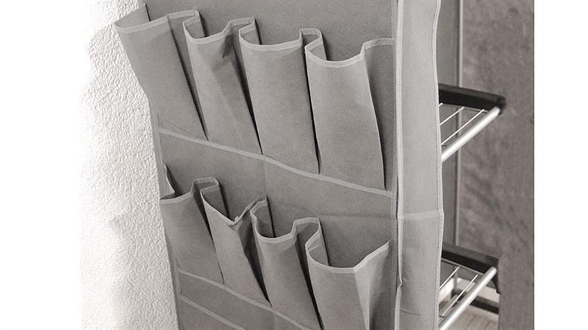 Standgarderobe TUMAS Stoff Kleiderschrank 5 Fächer Kleiderstange