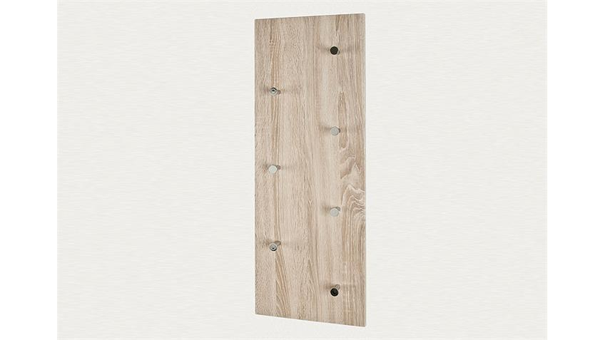 Wandgarderobe 42090 Sonoma Eiche und Chrom Nickel