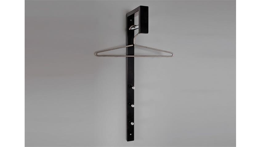Wandgarderobe 89545 Garderobe in schwarz und Chrom