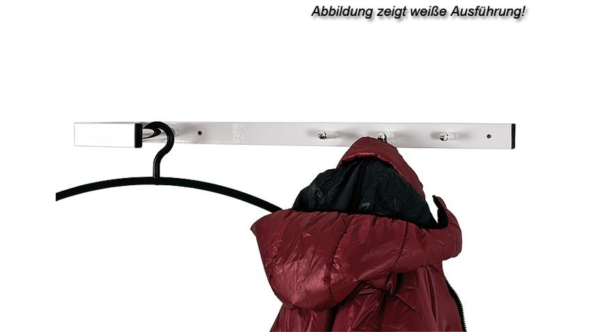 Wandgarderobe SPIKE Garderobe in schwarz und Chrom