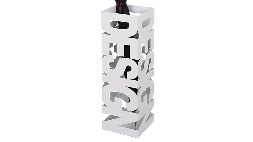 Schirmständer POP Schirmhalter in Metall weiß lackiert
