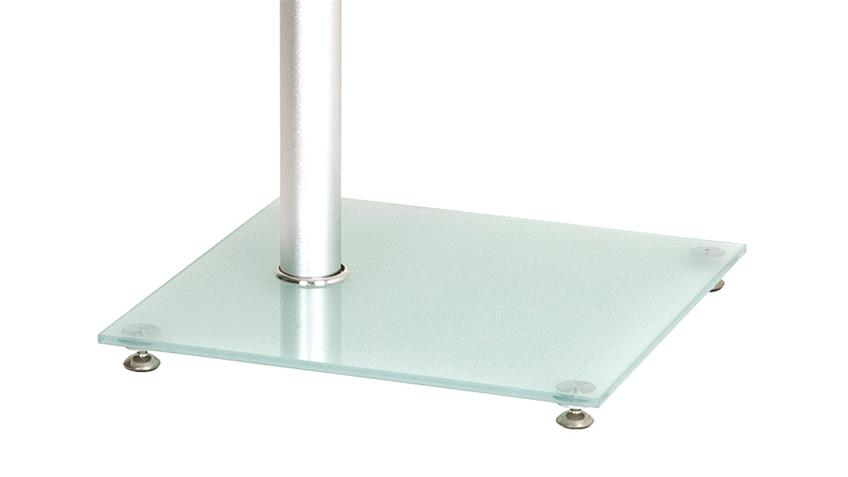 Beistelltisch 40x40 ESG Glas Bodenplatte Milchglas
