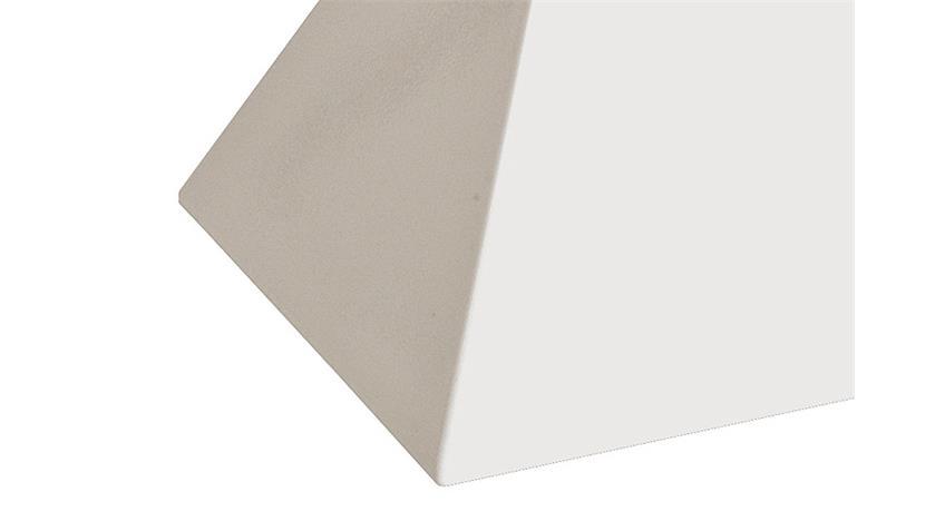 Beistelltisch EDGE Kunststoffguß weiß Hochglanz Lack 35x35 cm