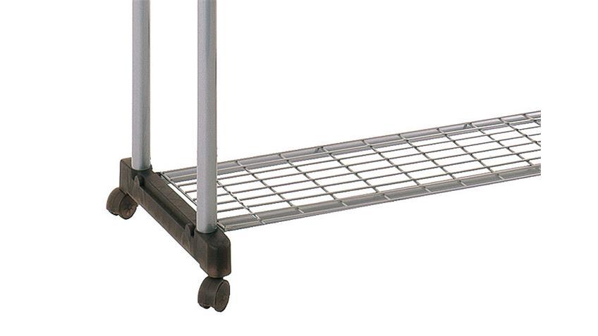 Rollgarderobe 44832 Garderobe in grau und Stahl verchromt