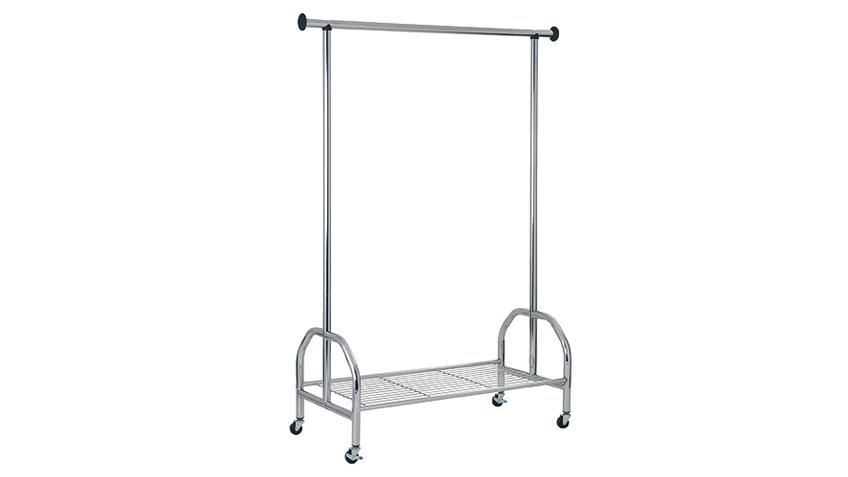 Rollgarderobe STEFANO Garderobe Kleiderständer Stahlrohr