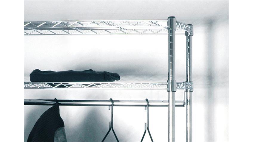 Rollgarderobe MADDY Garderobe Kleiderständer verchromt