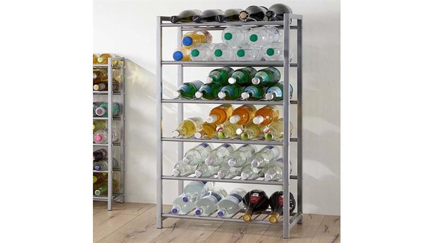 Flaschenständer Stahlrohr Alu lackiert für 42 Flaschen