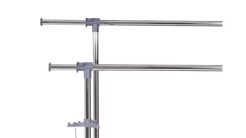 Rollgarderobe Stahl alufarben Chrom grau höhenverstellbar