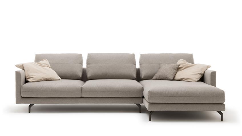 Hülsta Sofa von Rolf Benz 414 Eckgarnitur Stoff grau 300x172