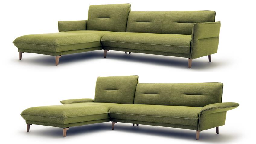 h lsta sofa ecksofa 430 stoff gr n natur kopfteilverstellung 293x182. Black Bedroom Furniture Sets. Home Design Ideas
