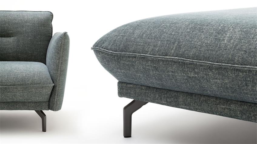 Hülsta Sofa von Rolf Benz Ecksofa 430 Stoff wasserblau 293x182