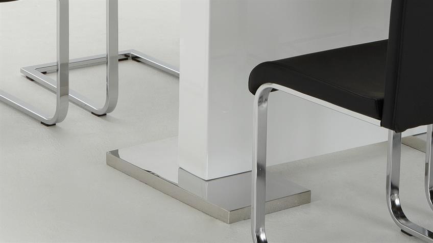 Esstisch IRIS 1 weiß Hochglanz Lack ausziehbar160cm auf 200 cm