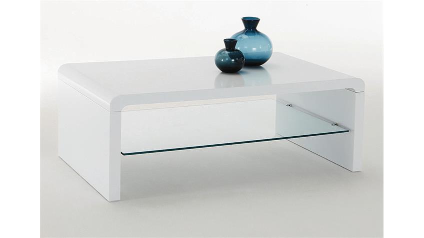 Couchtisch RAMON Beistelltisch Tisch in weiß hochglanz Lack