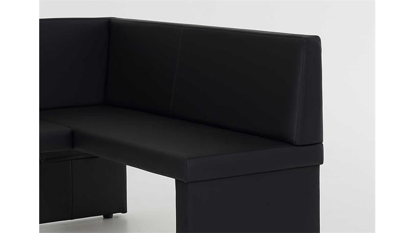 Eckbank TAINA schwarz langer Schenkel links 168x128