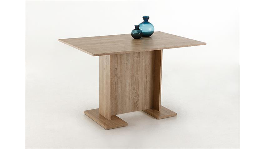Esstisch INES Tisch Esszimmertisch Säulentisch Sonoma Eiche