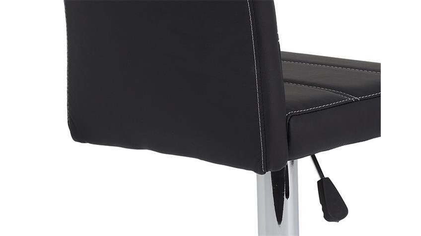 Barhocker MIRANDA 2er Set schwarz höhenverstellbar