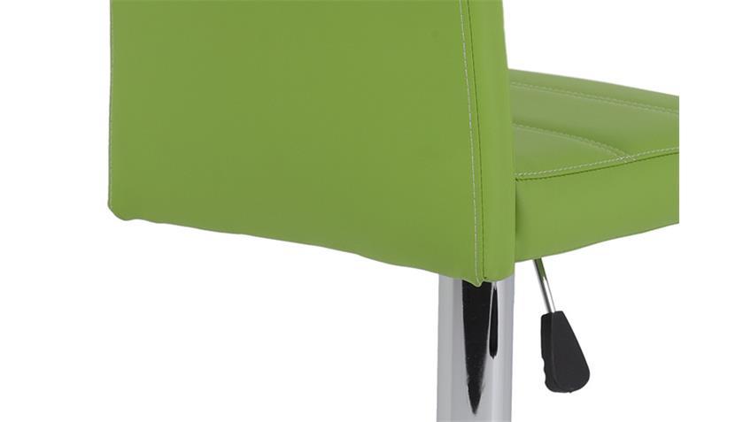 Barhocker MIRANDA 2er Set apfelgrün höhenverstellbar