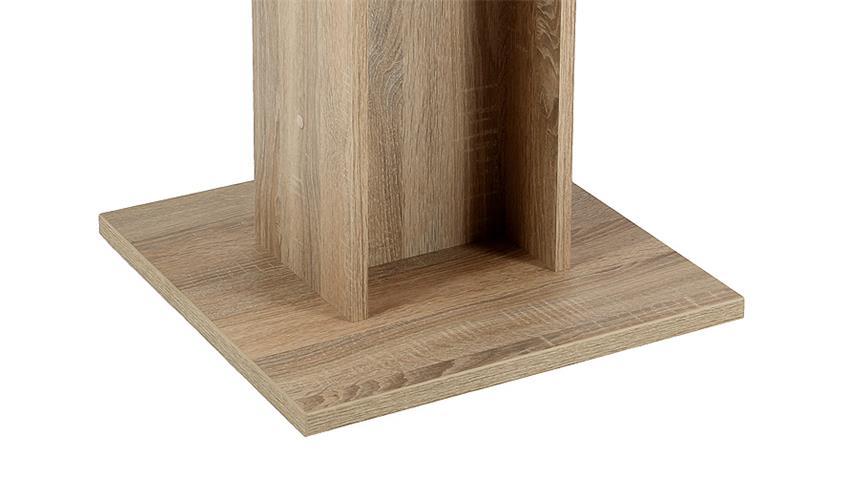 Säulentisch MANDY in Sonoma Eiche 80x80 cm