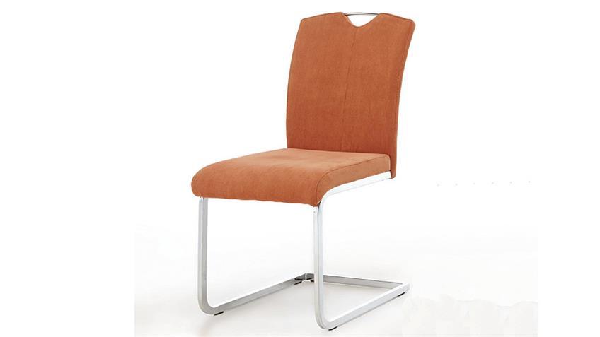 Schwingtuhl BABETT 4er Set Cordstoff orange