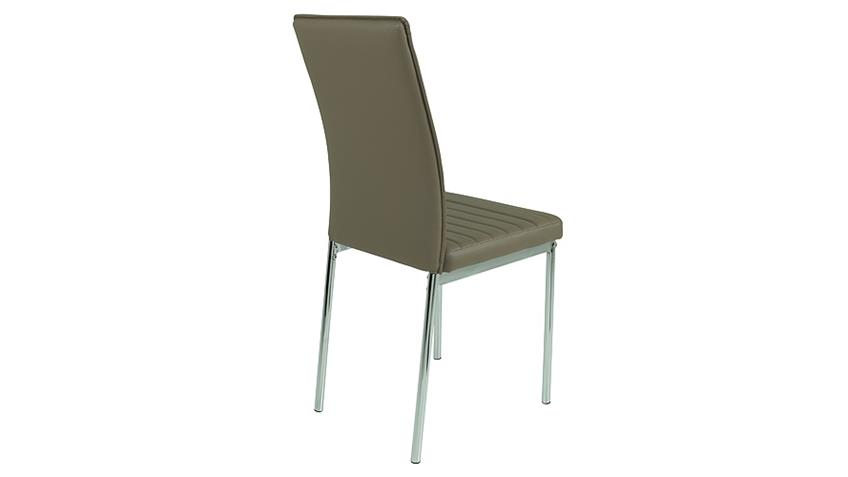 Stuhl NINA 4er Set latte braun mit Keder und Steppnähten