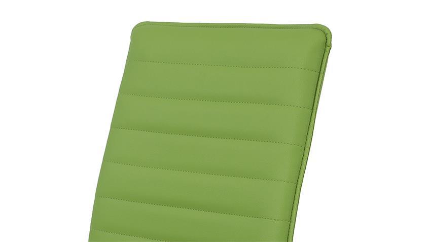 Stuhl NINA 4er Set grün mit Keder und Steppnähten