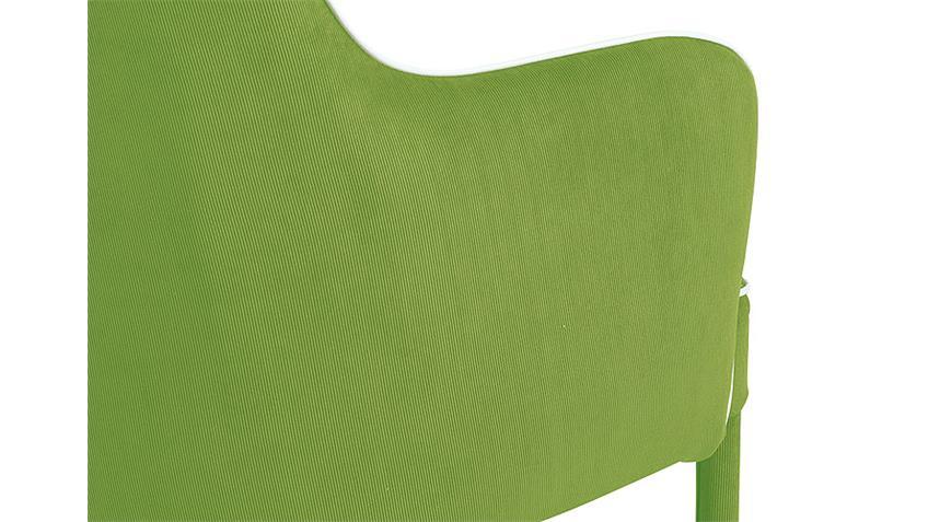 Armlehnstuhl AMBRA 2er Set Cordstoff grün
