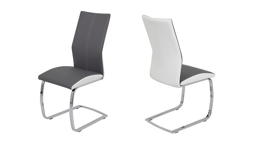 schwingstuhl sophie 4er set grau und wei. Black Bedroom Furniture Sets. Home Design Ideas