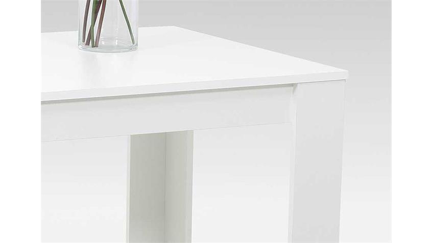 Esstisch DORIS Vierfußtisch weiß 120x80 cm