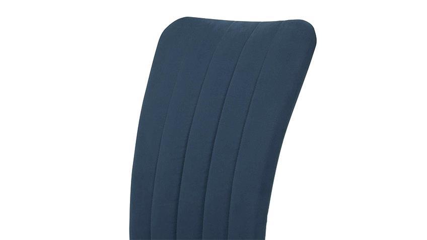 Stuhl VICKY II 4er Set in curry blau mit Steppnähten