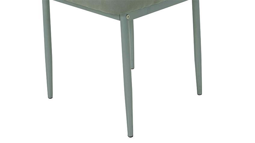 Stuhl VICKY II 4er Set in grau mit Steppnähten