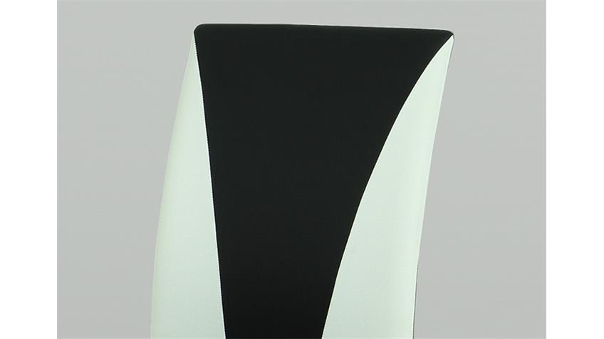 Stuhl MILA 4er Set schwarz und weiß Gestell lackiert
