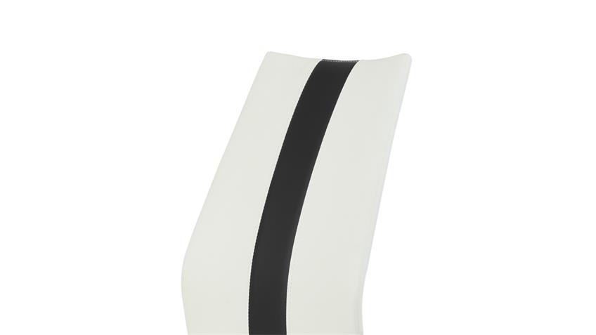 Schwingstuhl Tamara 4er Set Freischwinger Stuhl weiß schwarz