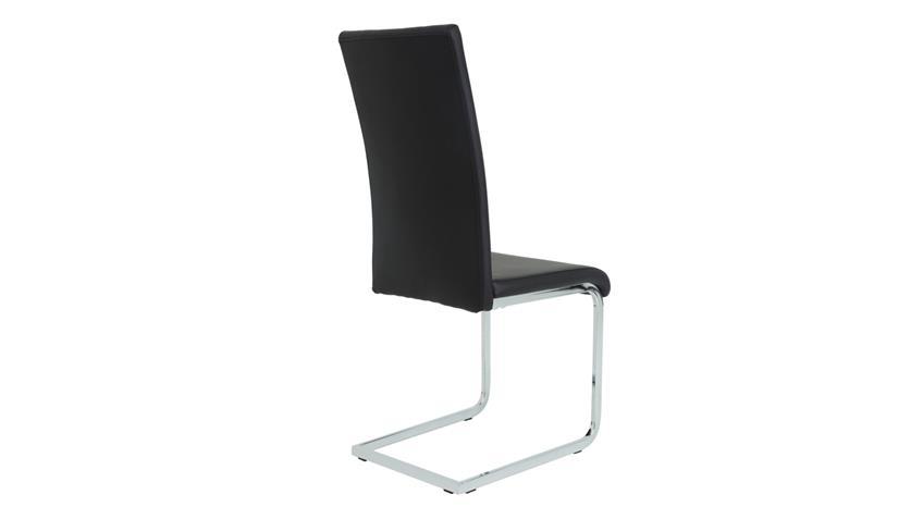 Schwingstuhl JOANA 4er Set Esszimmer Stuhl schwarz chrom