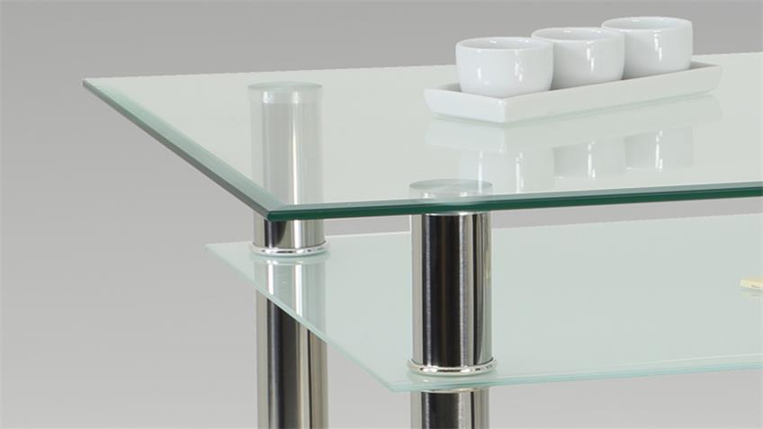 Tisch KÄTHE Konsolentisch Glas mit Facettenschliff 90x60 cm