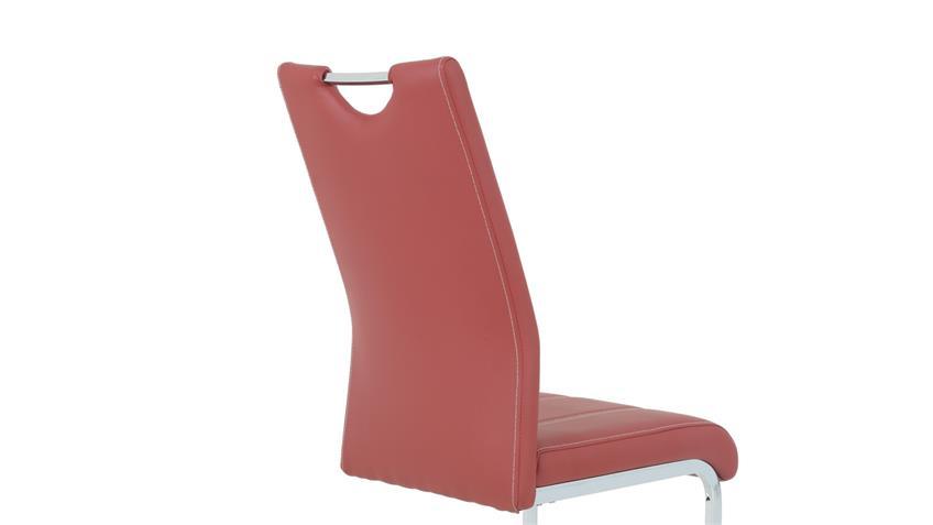 Schwingstuhl CARLA 4er Set Esszimmer Freischwinger Stuhl rot