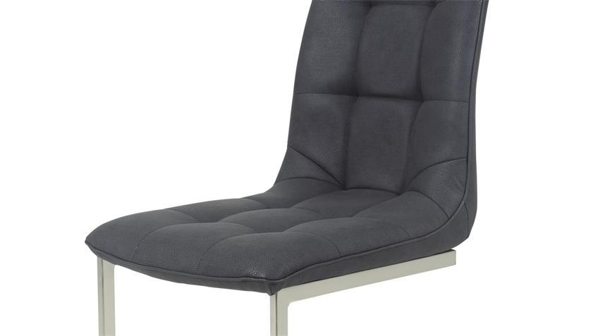 4er set schwingstuhl camilla stuhl lederlook anthrazit. Black Bedroom Furniture Sets. Home Design Ideas