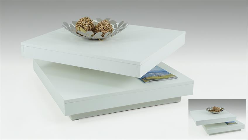couchtisch ben in wei tisch platte 360 drehbar. Black Bedroom Furniture Sets. Home Design Ideas