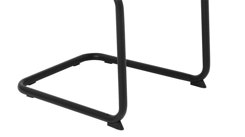 Schwingstuhl JENNY II 4er-Set Stuhl Stoff vintage anthrazit