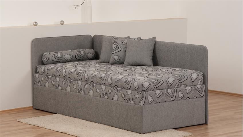 polsterliege sentino in grau bonell federkern mit. Black Bedroom Furniture Sets. Home Design Ideas