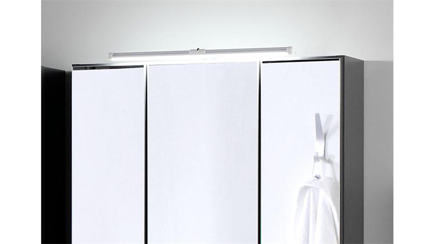 Spiegelschrank BOLOGNA 60 cm Badmöbel grau Aufbauleuchte