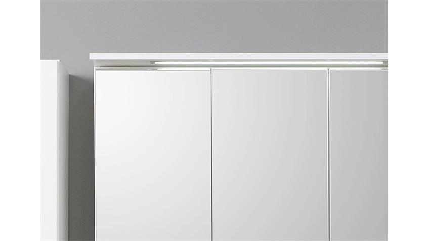 Spiegelschrank BOLOGNA 80 cm Badmöbel weiß Einbauleuchte