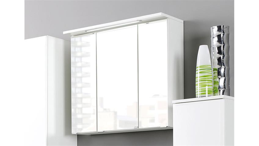 Spiegelschrank BOLOGNA 70 cm Badmöbel weiß Einbauleuchte