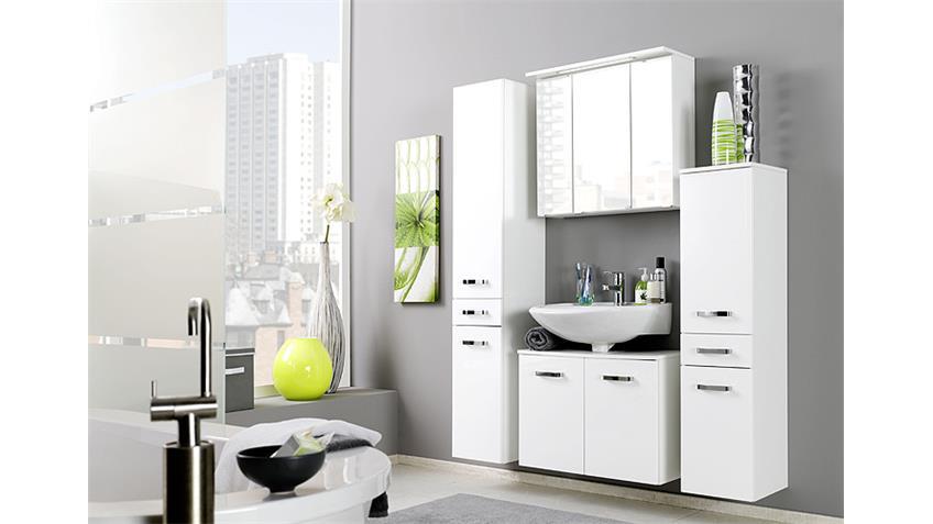 badezimmer set 5 bologna wei hochglanz inkl beleuchtung. Black Bedroom Furniture Sets. Home Design Ideas